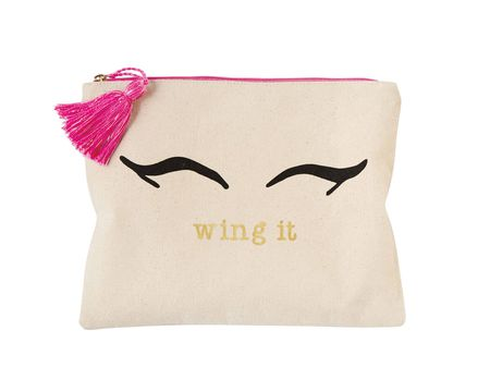 Mud Pie Wing It Canvas Print Make-Up Case