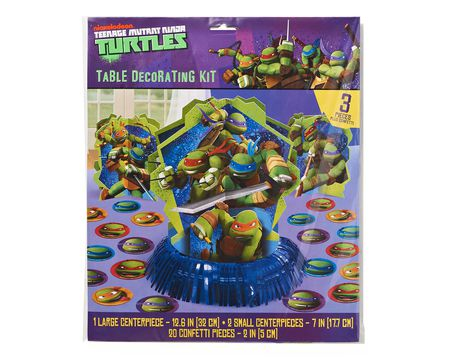 teenage mutant ninja turtles table decor kit