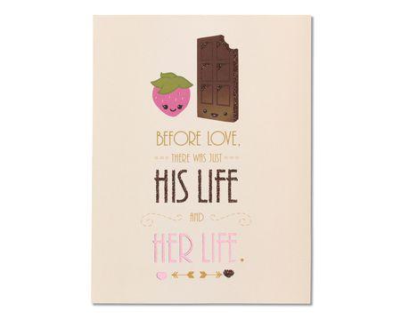 Chocolate Strawberry Bridal Shower Congratulations Card