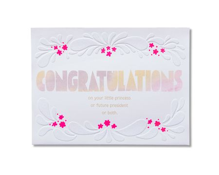 Amazing New Baby Girl Congratulations Card