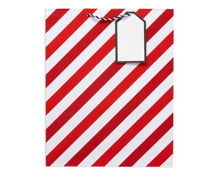 large red stripes christmas gift bag