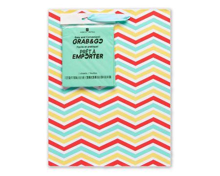 medium summer chevron gift bag with tissue