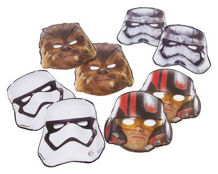 Star Wars Episode VII Masks, 8 Count