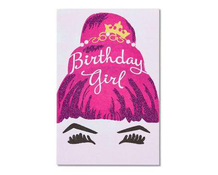 birthday girl birthday card for her