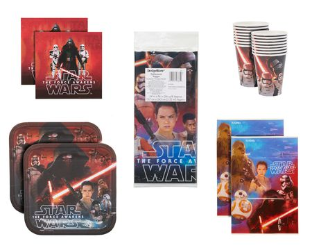 star wars: the force awawkens party value pack 16 ct