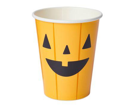 Pumpkin 9 oz. Paper Cups, 8-Count