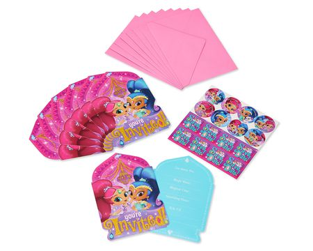 Shimmer and Shine Invite Postcards