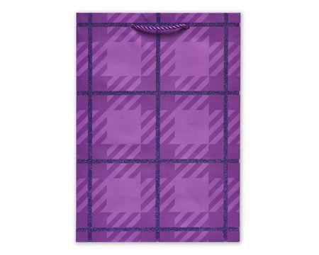 Small Gift Bag, Purple Pattern