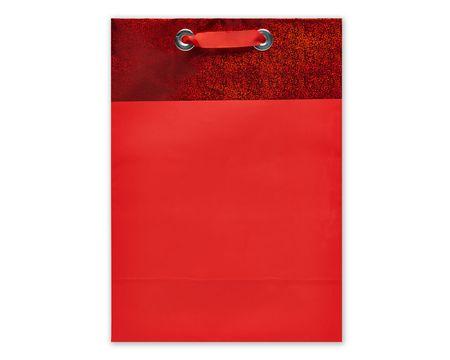 jumbo red metallic gift bag
