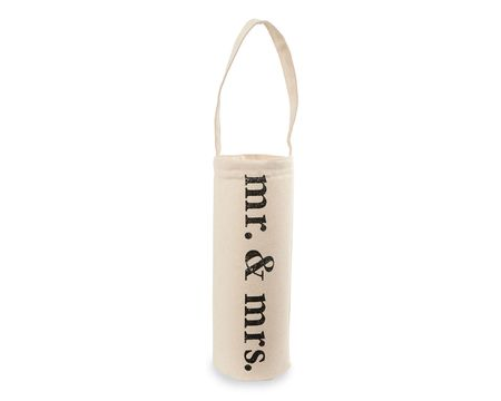 Mud Pie Mr. & Mrs. Wine Bag