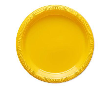 yellow plastic dessert plates 20 ct