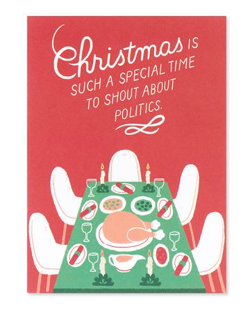 shout about politics christmas card
