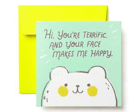 Terrific Greeting Card - Birthday, Thinking of You, Encouragement