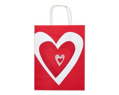 medium hearts together valentine's day gift bag