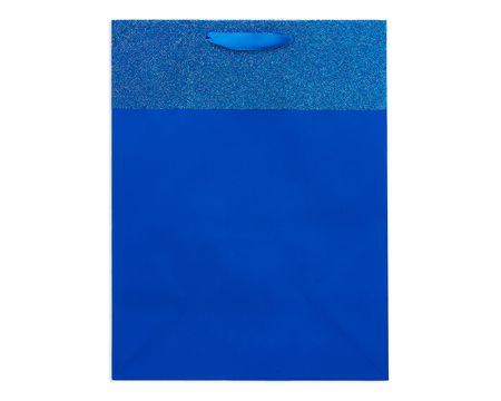 medium blue glitter gift bag