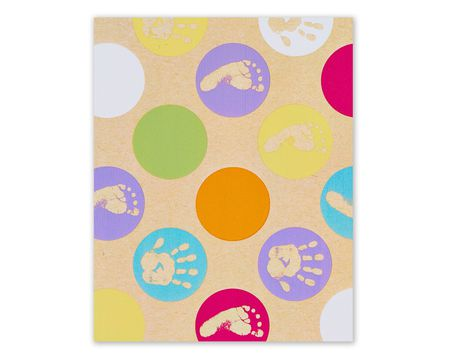baby hands and feet wrapping paper