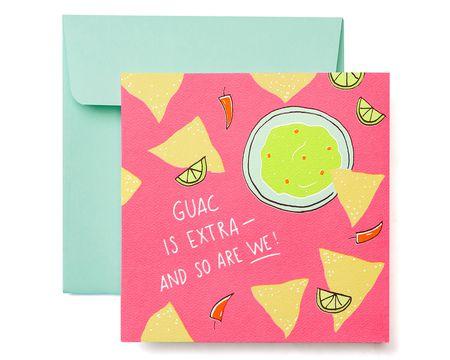 Guacamole Greeting Card - Birthday, Thinking of You, Friendship