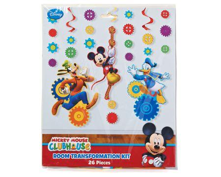 mickey mouse clubhouse décor value kit 18 pieces