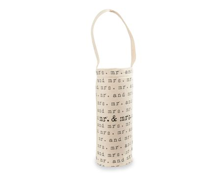 Mud Pie Repeating Mr. & Mrs. Wine Bags