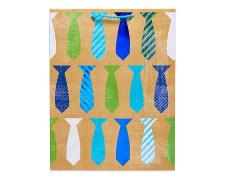 medium father's day ties gift bag