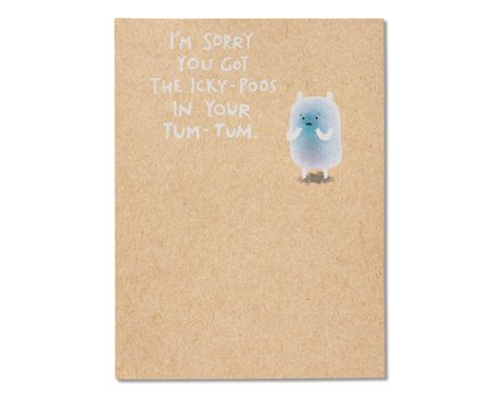 Icky-Poos Get Well Card