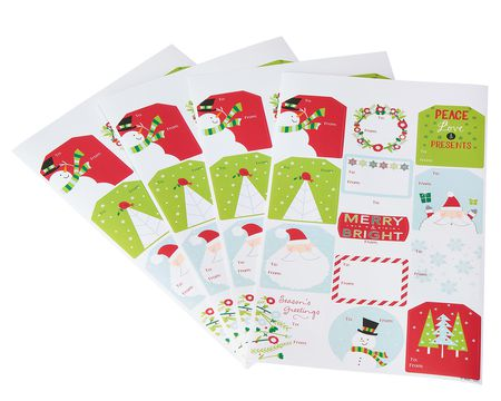 Christmas To/From Gift Stickers, Traditional