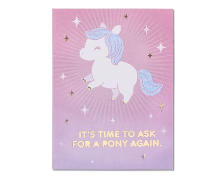 Pony Birthday Card