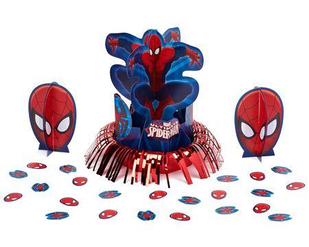spider-man table décor value kit 23 pieces