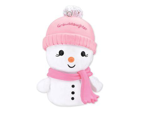 Granddaughter Snowman Christmas Tree Ornament