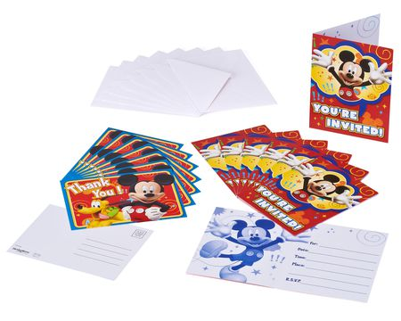 mickey mouse clubhouse invite and thank you combo 8 ct