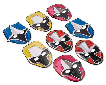Power Rangers Ninja Steel Masks, 8 Count