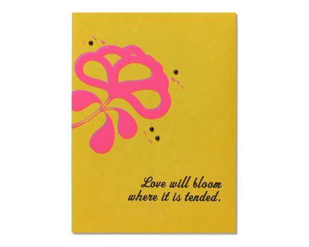 Love Will Bloom Anniversary Card