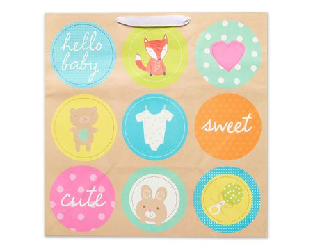 jumbo baby icons in circles gift bag