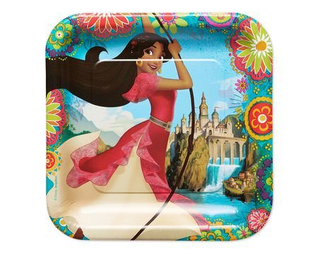 elena of avalor dinner square plate 8 ct