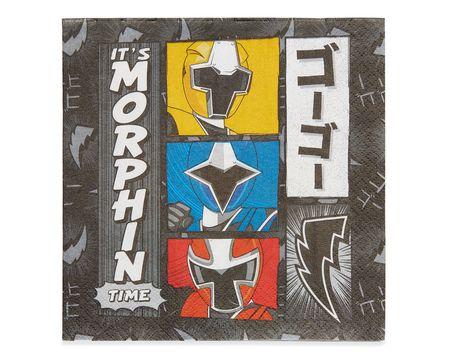 Power Rangers Ninja Steel Lunch Napkins, 16 Count