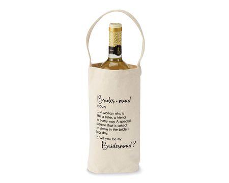 "Mud Pie Bridesmaid ""Ask"" Wine Bag"