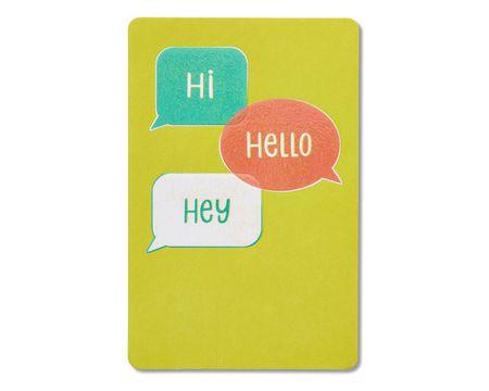 hi hello hey blank card