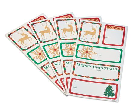 traditional christmas gift tags stickers