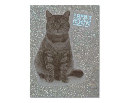Kill You Birthday Card from Cat