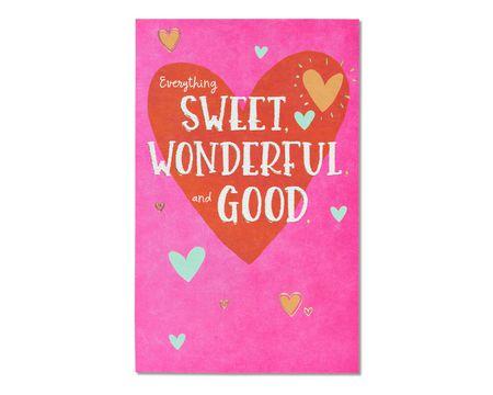 Sweet Wonderful Good Valentine's Day Card