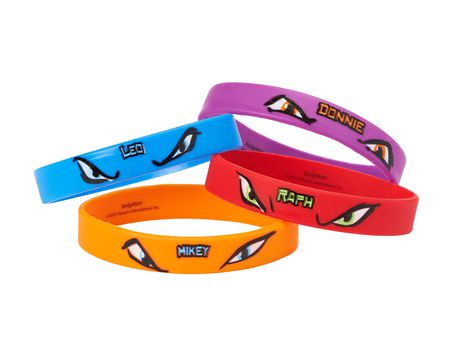 teenage mutant ninja turtles rubber bracelets 4 ct