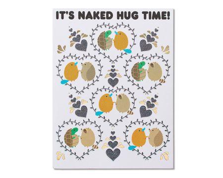 Romantic Naked Hug Birthday Card