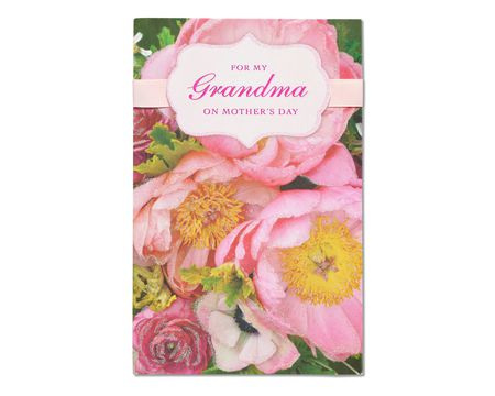floral mother's day card for grandma