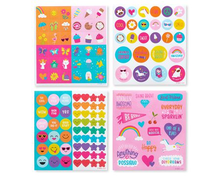 Summer Fun, Treats and Smiles Sticker Sheets, 524-Count