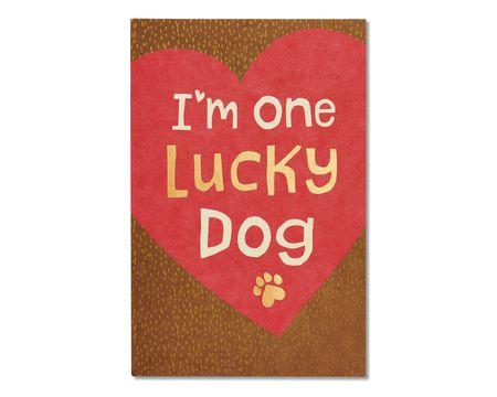 Lucky Dog Valentine's Day Card