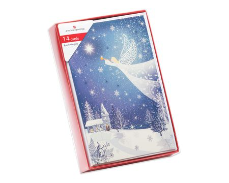 Sparkling Angel Christmas Boxed Cards, 14 Count