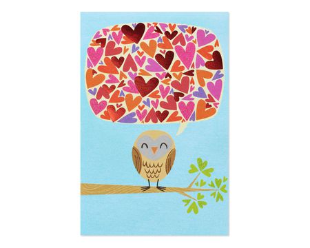 Owl Valentine's Day Card, 6-Count