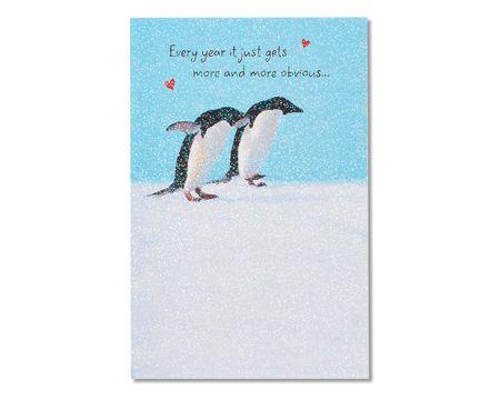 penguin anniversary card