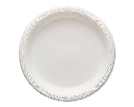 white plastic dinner plates 20 ct