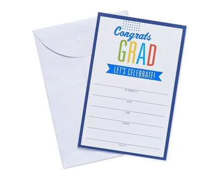 congrats grad invite postcards 25 ct